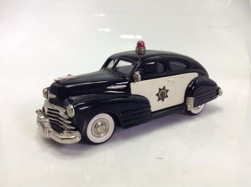 Chevrolet Aero Sedan 1948 Police Brooklin Models 1/43