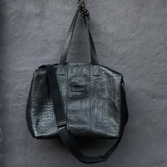 Croco Weekender Bag Total Black en internet