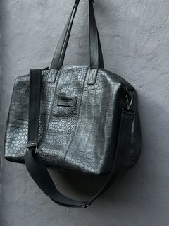 Croco Weekender Bag Total Black - comprar online