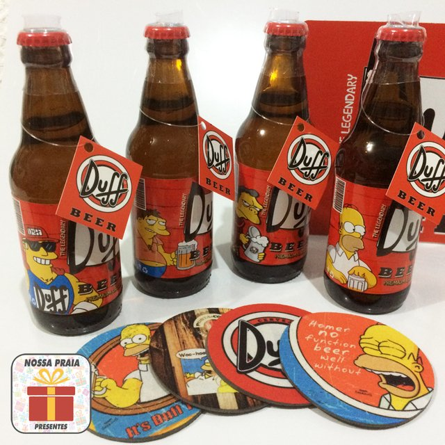 Kit 4 Cervejas Duff Beer - Springfield Edition