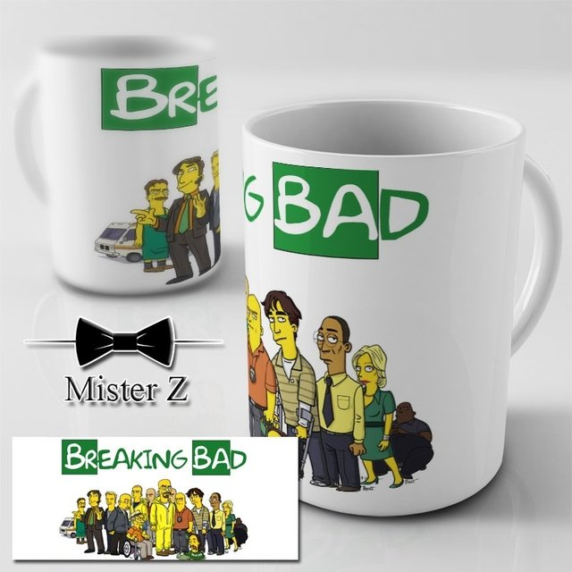 Caneca dos Simpsons - Theme Breaking Bad - comprar online