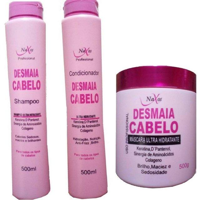97f9a556e kit desmaia cabelo naxos 1 shampoo 1 condicionador 1 mascara