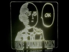 Luminária Led 3d One Punch Man Saitama Anime Mangá