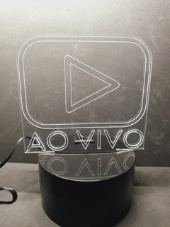Luminária Led 3d Placa Ao Vivo Online On Live Streamer Gamer - comprar online
