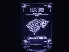 Luminária Led 3d House Stark Game of Thrones Acrílico
