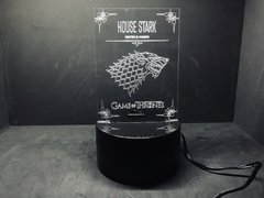 Luminária Led 3d House Stark Game of Thrones Acrílico - comprar online