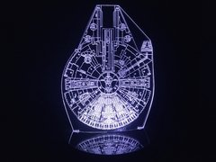 Luminária Led 3d Millenium Falcon Star Wars Abajur