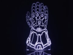 Luminária Led 3d Thanos Manopla Joias Do Infinito Vingadores