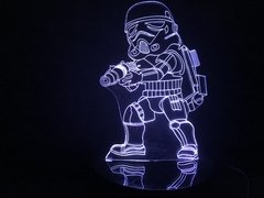 Luminária Led 3d Stormtrooper Star Wars Chibi