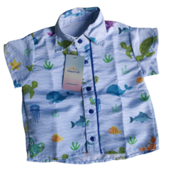CAMISA INFANTIL FUNDO DO MAR MOD 04