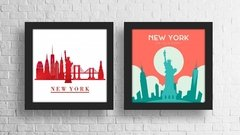 Conjunto Quadros Decorativos New York