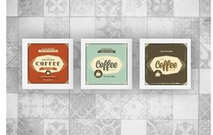 Kit Trio Quadros Decorativos Coffee Cantinho do Café c Vidro