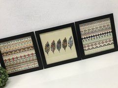 Conjunto Quadros Decorativos Estilo Boho Tribal
