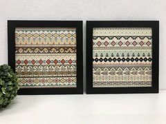 Conjunto 2 Quadros Decorativos Estilo Boho Tribal