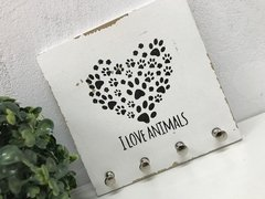 Porta Chaves Chaveiro Decor Love Animals