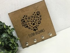 Porta Chaves Chaveiro Decor Love Animals - comprar online