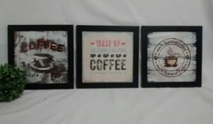 Conjunto Quadros Decorativos Coffee Cantinho do Café Vintage na internet