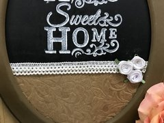 Quadro Decorativo Home Sweet Home na internet