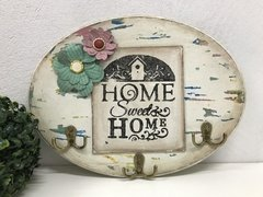 Placa Oval Porta Chaves Home Sweet Home - comprar online