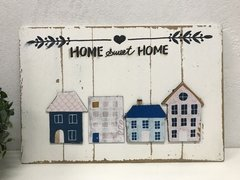 Placa Decorativa Entrada Home Sweet Home na internet
