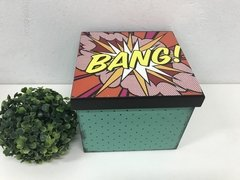 Caixa Decorativa Pop Art Bang