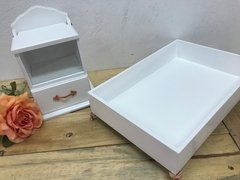 Lavabo Decor Branco e Rose Gold