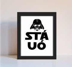 Quadro Decorativo Star Wars Sta Uó Humor
