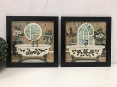 Conjunto Kit Quadros Decorativos Lavabo