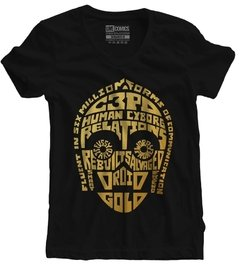 Camiseta Baby Look Star Wars C3P0