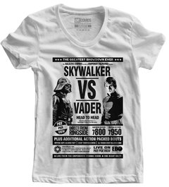 Camiseta Baby Look Skywalker vs Vader Star Wars