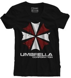 Camiseta Baby Look Resident Evil Umbrella  Corporation