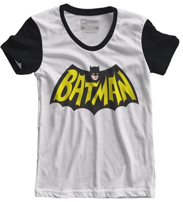 96c55b6ec0 Camiseta feminina Batman Vintage Logo