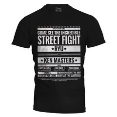 Camiseta masculina Street Fighter Poster