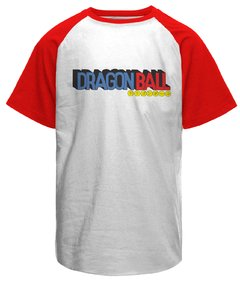 Camiseta masculina raglan Dragon Ball logo na internet