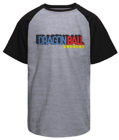 Camiseta masculina raglan Dragon Ball logo