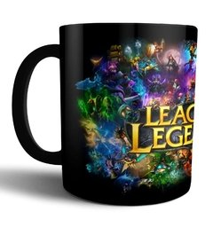 Caneca de Porcelana preta League of Legends LOL
