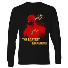 Camiseta Manga Longa The Flash -The fastest man alive