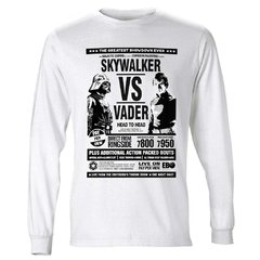 Camiseta Manga Longa Skywalker vs Vader Star Wars