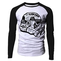 Camiseta manga longa raglan Star Wars Storm Trooper Darkside