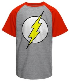 Camiseta masculina raglan The Flash Logo Clássico