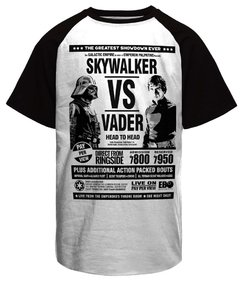 Camiseta Raglan Skywalker vs Vader Star Wars
