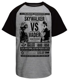 Camiseta Raglan Skywalker vs Vader Star Wars - comprar online