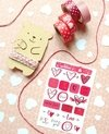 Kit Love Rojo stickers, hilo y washis - comprar online