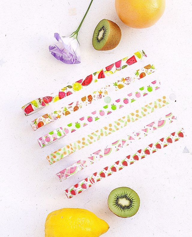 Washi tape Set 1,5cm x 14 m TUTTI FRUTTI LIMITED EDITION (OHN MAR WIN)