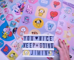 Stickers K-Pop 4 planchas A4 Serie BTS en internet