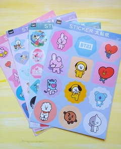 Stickers K-Pop 4 planchas A4 Serie BTS