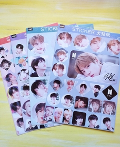 Stickers K-Pop 4 planchas A4 Serie BTS - Casa Washi