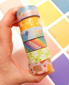 Set 12 washi estandar foil Alegria 15 mm x 3 m - comprar online