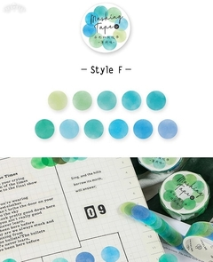 Washi Color DOTS Infeel.me x 100 stickers - tienda online