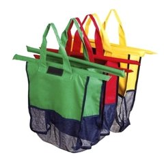 Color Bags Kit sacolas com 3 sacolas mercado -
